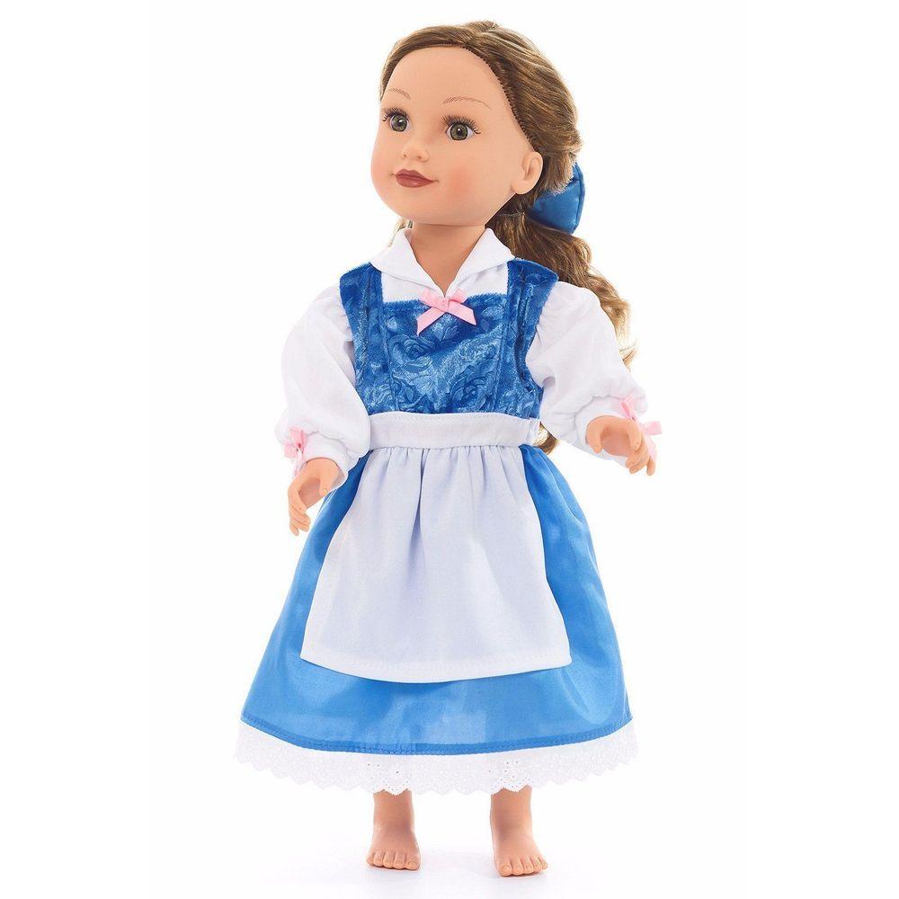 Vestido Para Muñeca Princesa Bella Azul